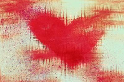 Didgital Art Digital Art - Canvas Heart by Linda Sannuti