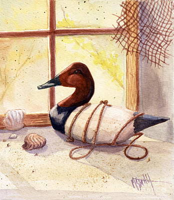 Canvasback Decoy Art Print by Marilyn Smith