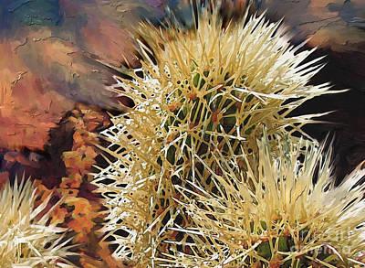 Canyon Mixed Media - Canyon Cactus by Bob Salo