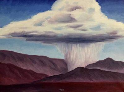 Painting - Canyon Cloudburst by Robert J Diercksmeier