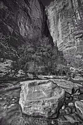 Photograph - Canyon Corner - Bw by Christopher Holmes
