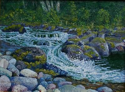 Canyon Creek Cadence Art Print by Ron Smothers