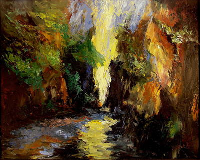 Painting - Canyon Creek by Gail Kirtz