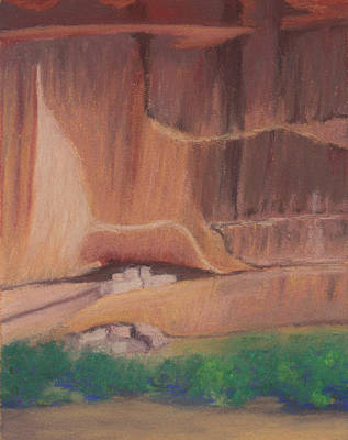 Pastel - Canyon De Chelly Cliffdwellers #2 by Anne Katzeff