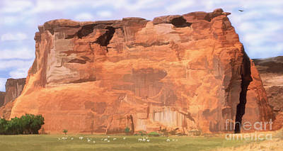 Digital Art - Canyon De Chelly  by Walter Colvin