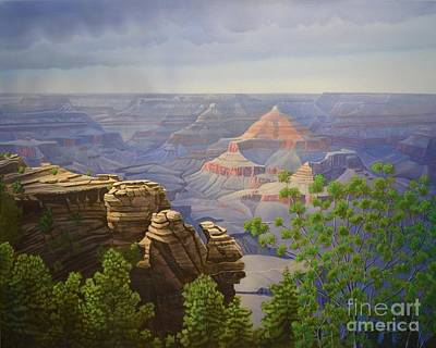Grand Canyon Of Arizona Painting - Canyon Dreams A Perfect Come True 2 by Jerry Bokowski