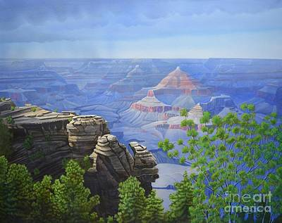 Grand Canyon Of Arizona Painting - Canyon Dreams A Perfect Come True by Jerry Bokowski