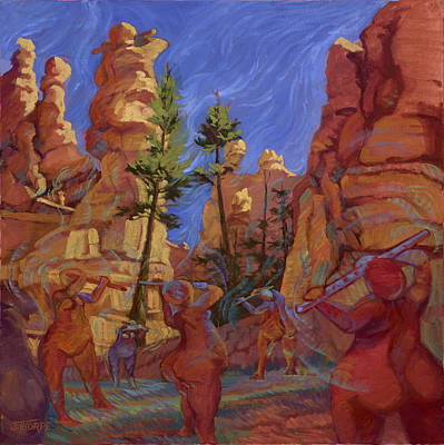 Painting - Canyon Echoes by Jane Thorpe