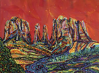 Painting - Canyon by Erika Pochybova