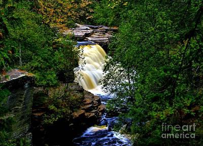 Photograph - Canyon Falls In Autumn by Matthew Winn
