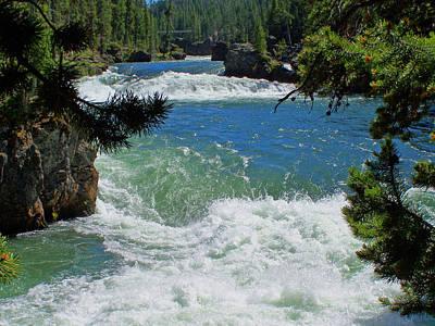 Yellowstone Digital Art - Canyon Falls Yellowstone by Vijay Sharon Govender