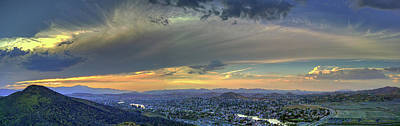 Photograph - Canyon Hills Panorama by Richard Stephen