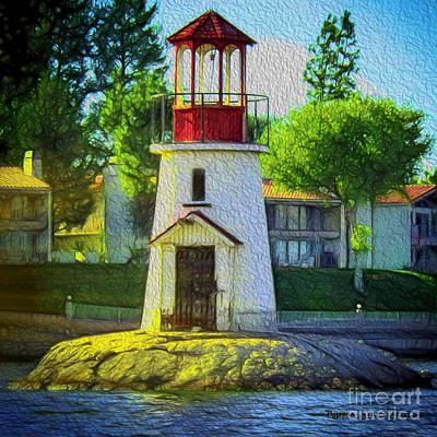 Photograph - Canyon Lake Lighthouse by Rhonda Strickland
