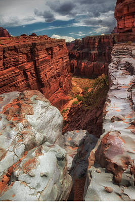 Photograph - Canyon Lands Quartz Falls Overlook by Gary Warnimont