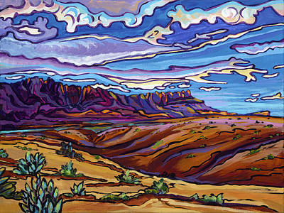 Painting - Canyon Lands-study Of The Vermillion Cliffs, Az by Alexandria Winslow