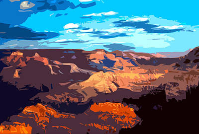 Abstract Landscape Digital Art - Canyon Light by Linda Mears