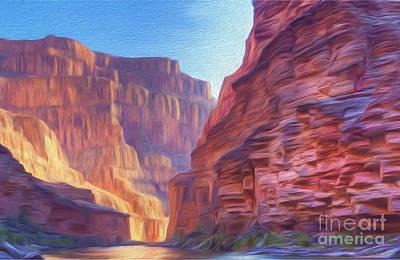 Mixed Media - Canyon Light by Walter Colvin