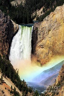 Photograph - Canyon Lower Falls Rainbow by Darleen Stry