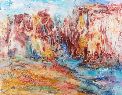 Canyon Mouth Art Print by Becky Chappell