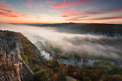 Canyon Of Mists Art Print