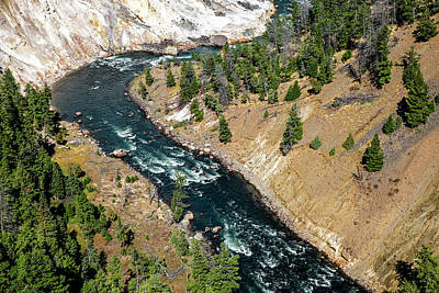 Photograph - Canyon Of Yellowstone River by Alex Galkin