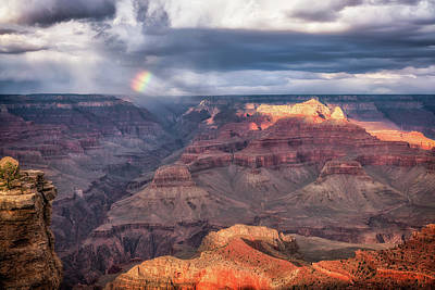 Photograph - Canyon Rainbow by David Cote