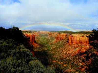 Canyon Rainbow Art Print by Ellen  Leigh