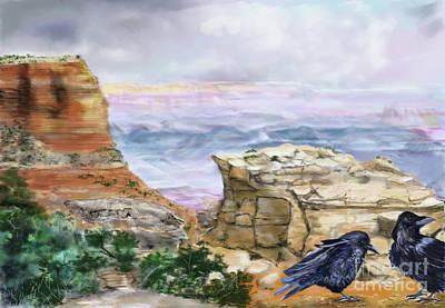 Canyon Ravens Art Print