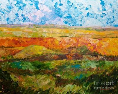 Painting - Canyon Ridge by Allan P Friedlander
