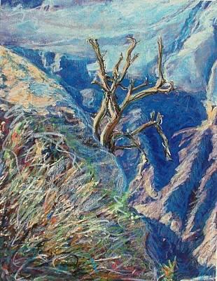 Mixed Media - Canyon Rim by Banning Lary