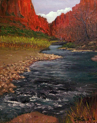 Painting - Canyon River by Janet Greer Sammons