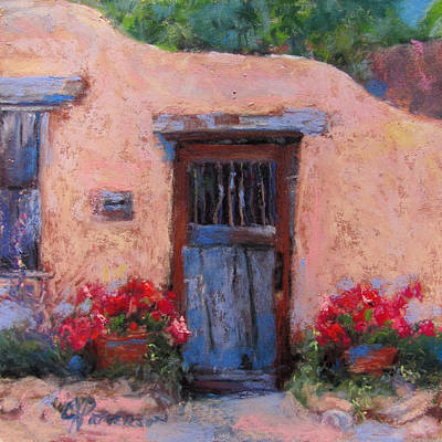 Southwest Gate Painting - Canyon Road by Julia Patterson