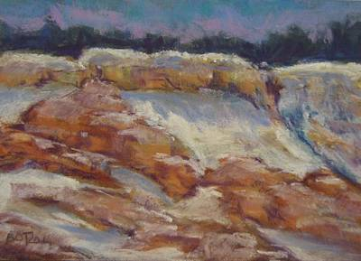 Pastel - Canyon Snow by Barbara O'Toole