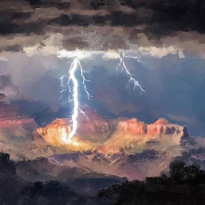 Digital Art - Canyon Storm by Gary Grayson