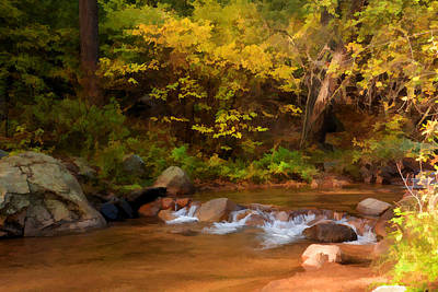 Photograph - Canyon Stream In Autumn by Diane Alexander