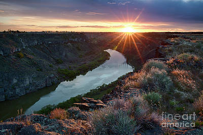Photograph - Canyon Sunset by Idaho Scenic Images Linda Lantzy