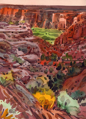 Canyon Painting - Canyon Trail To Whitehouse by Donald Maier
