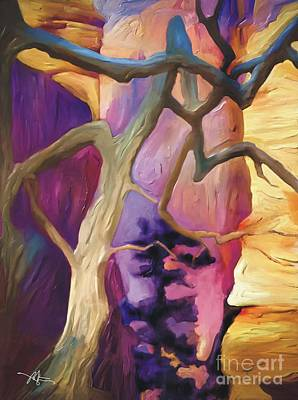 Grand Canyon Mixed Media - Canyon View by Bob Salo