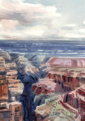 Rim Painting - Canyon View by Donald Maier