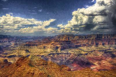 Cliffs Photograph - Canyon View by John K Woodruff