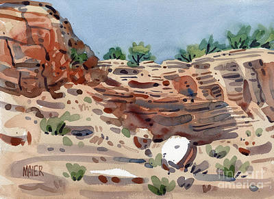 Canyon Painting - Canyon Wall by Donald Maier