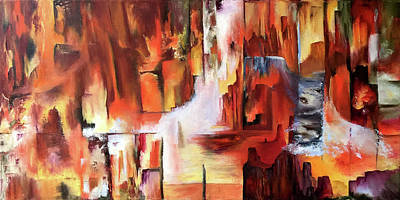 Painting - Canyon Walls by Terry R MacDonald