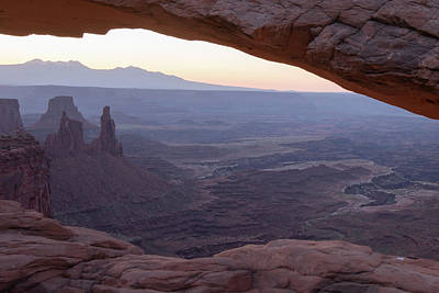 Photograph - Canyonland Morning Haze - Mesa Arch Landscape by Gregory Ballos