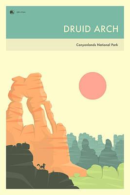Par Digital Art - Canyonlands National Park Poster by Jazzberry Blue