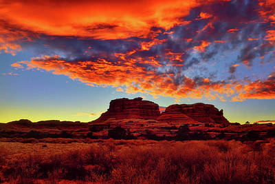 Photograph - Canyonlands Sunset by Greg Norrell