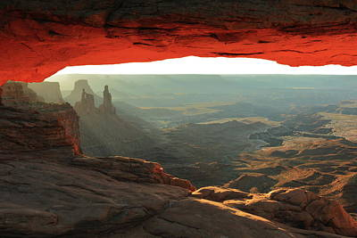 Photograph - Canyonlands View Through Mesa Arch by Roupen  Baker