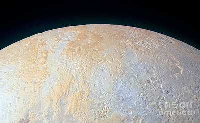 Deep Sky Photograph - Canyons Around Plutos North Pole by Science Source
