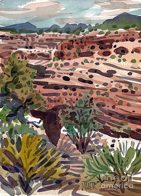 Mummies Painting - Canyon's Edge by Donald Maier