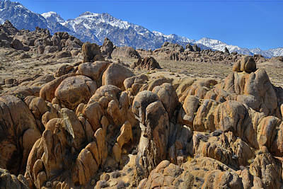 Photograph - Canyons Of The Alabama Hills by Ray Mathis