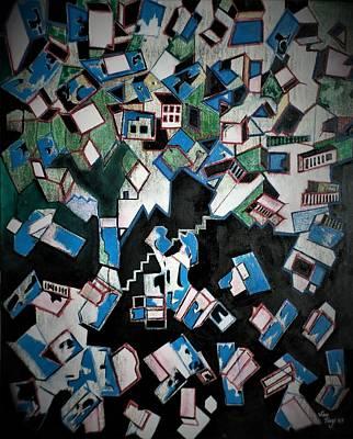 Painting - Caos Urbano by Adalardo Nunciato  Santiago